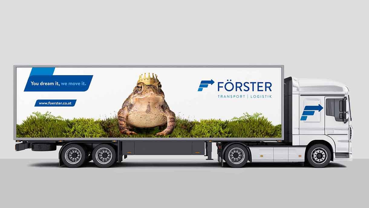 Froschkönig Förster Transporte LKW Truck