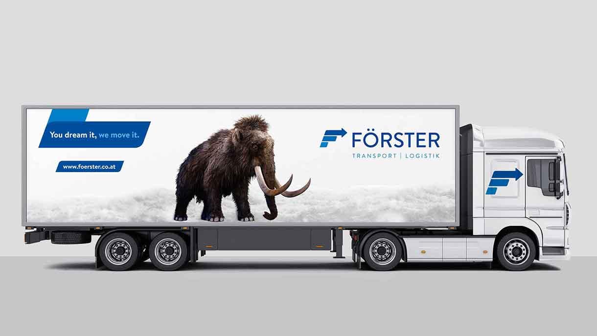 Mammut Förster Transporte LKW Truck